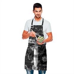 Фартук кулинарный Служу России: нож цвета 3D — фото 2