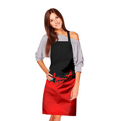 Фартук кулинарный АлисА: Черный & Красный цвета 3D — фото 2