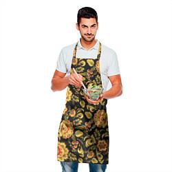 Фартук кулинарный Хохлома цвета 3D — фото 2