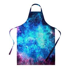 Фартук кулинарный Голубая вселенная цвета 3D — фото 1