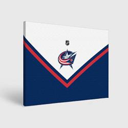 Холст прямоугольный NHL: Columbus Blue Jackets цвета 3D-принт — фото 1