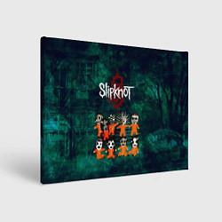 Холст прямоугольный Группа Slipknot цвета 3D — фото 1