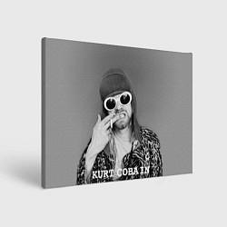 Холст прямоугольный Кобейн в очках цвета 3D-принт — фото 1