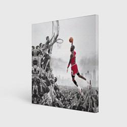 Холст квадратный Michael Jordan NBA цвета 3D-принт — фото 1