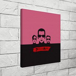Холст квадратный Группа Depeche Mode цвета 3D — фото 2