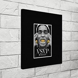 Холст квадратный ASAP Rocky: Gold Edition цвета 3D-принт — фото 2