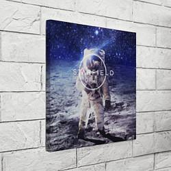 Холст квадратный Starfield: Astronaut цвета 3D — фото 2