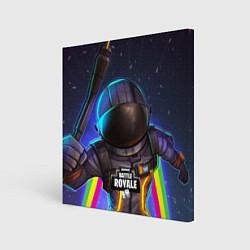 Холст квадратный Fortnite: Space Rainbow цвета 3D-принт — фото 1
