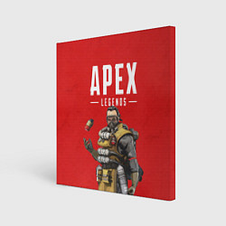 Холст квадратный Apex Legends: Red Caustic цвета 3D — фото 1