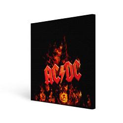 Холст квадратный AC/DC Flame цвета 3D — фото 1