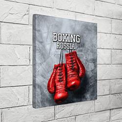 Холст квадратный Boxing Russia цвета 3D — фото 2
