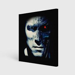 Холст квадратный Взгляд Терминатора цвета 3D-принт — фото 1