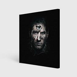 Холст квадратный Messi Black цвета 3D-принт — фото 1