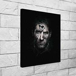 Холст квадратный Messi Black цвета 3D — фото 2