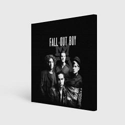 Холст квадратный Fall out boy band цвета 3D-принт — фото 1