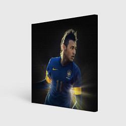 Холст квадратный Neymar: Brasil Team цвета 3D-принт — фото 1