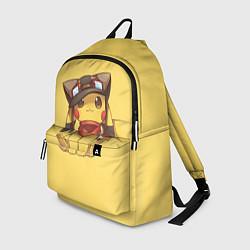 Рюкзак Pikachu цвета 3D-принт — фото 1