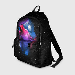 Рюкзак Воющий волк цвета 3D — фото 1