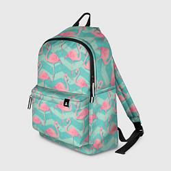 Рюкзак Flamingo Pattern цвета 3D-принт — фото 1