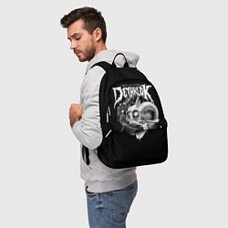 Рюкзак Dethklok: Goat Skull цвета 3D-принт — фото 2