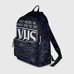 Рюкзак 4K VHS цвета 3D-принт — фото 1