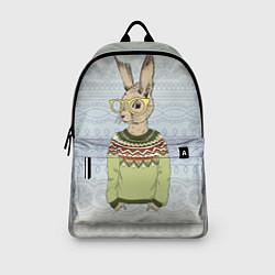 Рюкзак Кролик хипстер цвета 3D-принт — фото 2