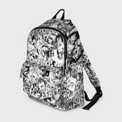 Рюкзак Ahegao: Black & White цвета 3D-принт — фото 1