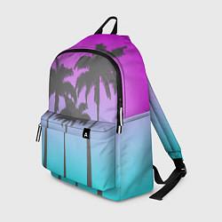 Рюкзак Пальмы 80s цвета 3D-принт — фото 1