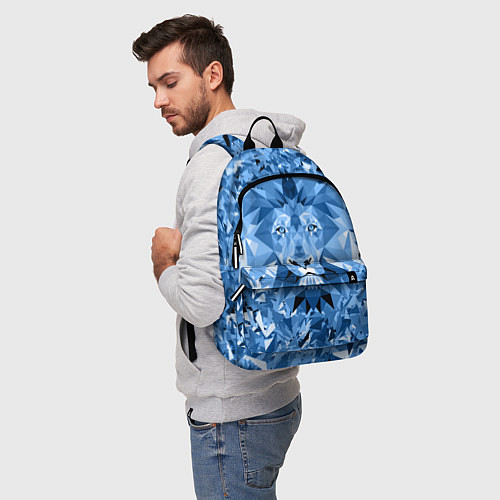 Рюкзак Сине-бело-голубой лев / 3D – фото 5