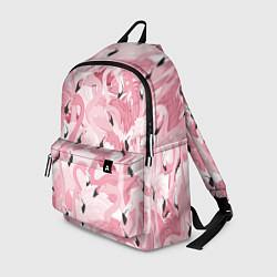 Рюкзак Розовый фламинго цвета 3D-принт — фото 1