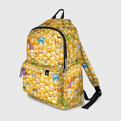 Рюкзак Смайлики Emoji цвета 3D-принт — фото 1