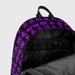Рюкзак НЕОНОВЫЕ ИЕРОГЛИФЫ цвета 3D-принт — фото 2