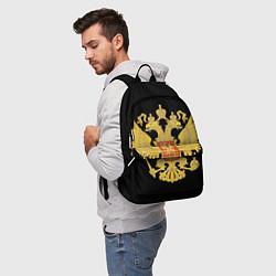 Рюкзак Герб России: золото цвета 3D — фото 2
