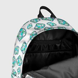 Рюкзак Бриллианты цвета 3D-принт — фото 2