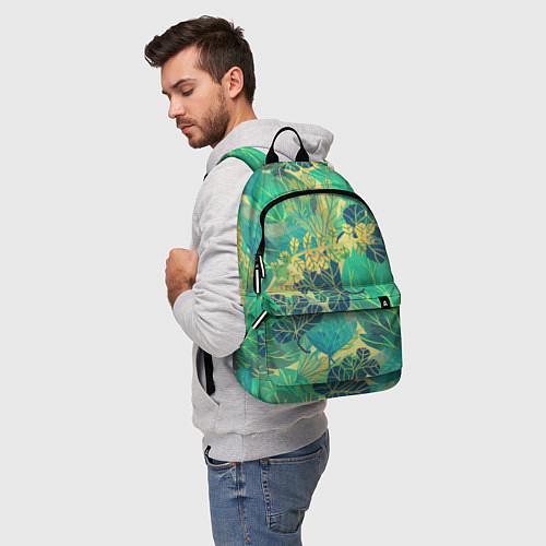 Рюкзак Узор из листьев / 3D – фото 5