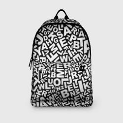Рюкзак Английский алфавит цвета 3D-принт — фото 2