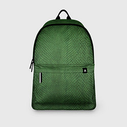 Рюкзак Змеиная зеленая кожа цвета 3D-принт — фото 2