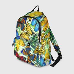 Рюкзак Тропические бабочки цвета 3D — фото 1