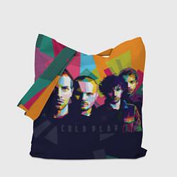 Сумка-шопер Coldplay цвета 3D-принт — фото 1