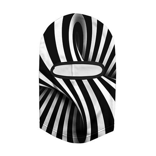 Балаклава Оптические иллюзии / 3D-Черный – фото 2