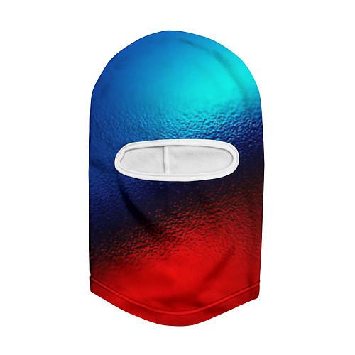 Балаклава Синий и красный / 3D-Белый – фото 2