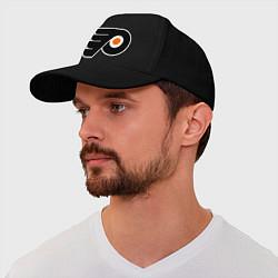 Бейсболка Philadelphia Flyers цвета черный — фото 1
