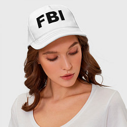Бейсболка FBI цвета белый — фото 2