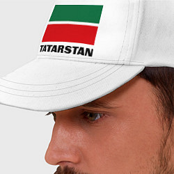Бейсболка Флаг Татарстана цвета белый — фото 2