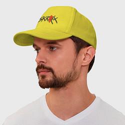 Бейсболка Skrillex цвета желтый — фото 1
