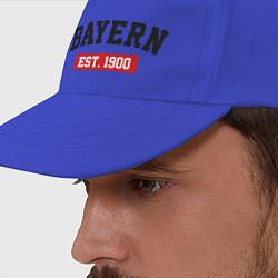 Бейсболка FC Bayern Est. 1900 цвета синий — фото 2