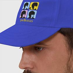 Бейсболка The Beatles: pop-art цвета синий — фото 2