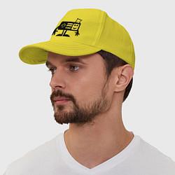 Бейсболка Игроман цвета желтый — фото 1