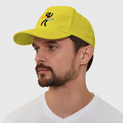 Бейсболка Portal Рoops цвета желтый — фото 1