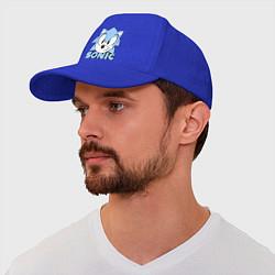 Бейсболка Соник цвета синий — фото 1